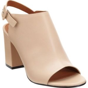 Givenchy Nude Leather Slingback Sandals
